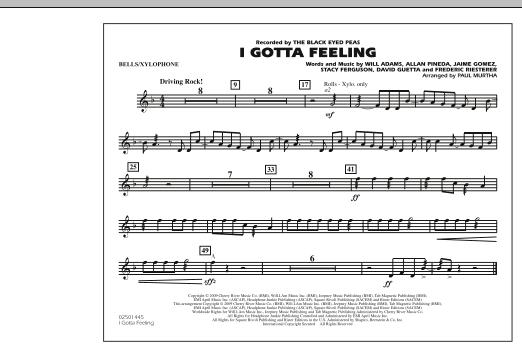 I Gotta Feeling - Bells/Xylophone (Marching Band)