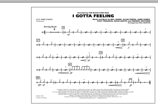 I Gotta Feeling - Aux Percussion (Marching Band)