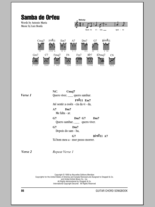 Samba De Orfeu | Sheet Music Direct