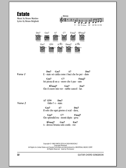 Estate Sheet Music