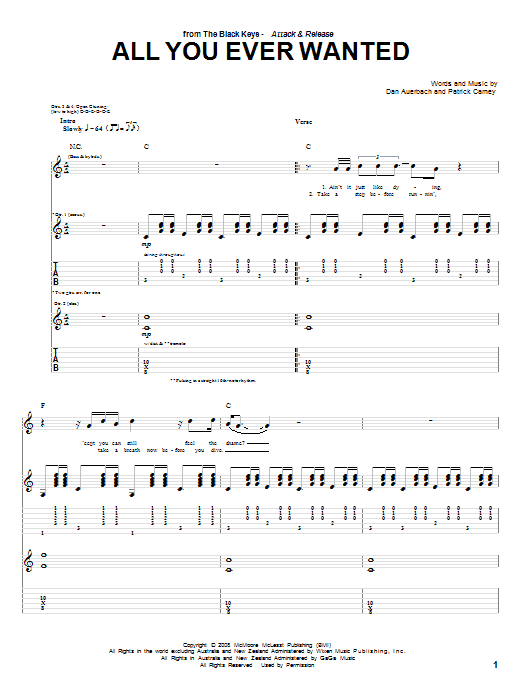 All You Ever Wanted Sheet Music