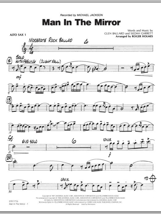 Man In The Mirror - Alto Sax 1 (Jazz Ensemble)