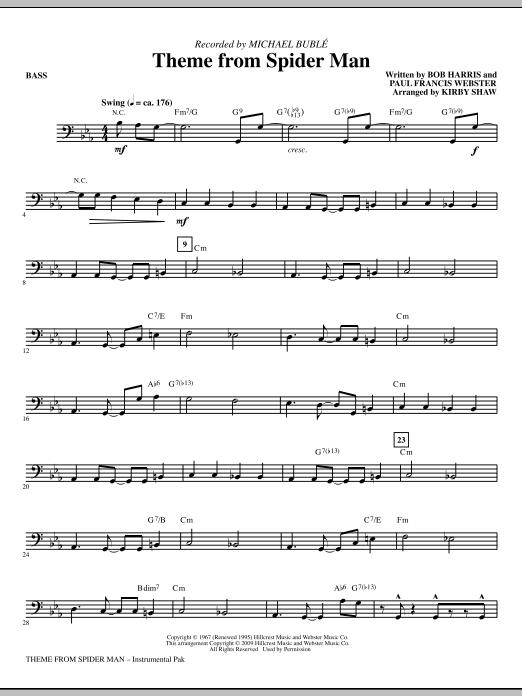 Theme from Spider Man - Bass Sheet Music