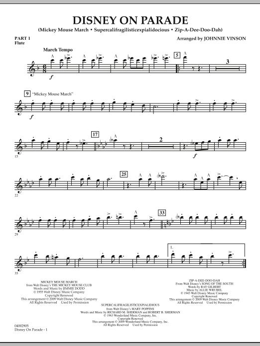 Disney on Parade - Pt.1 - Flute (Concert Band)
