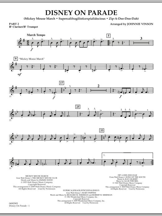 Disney on Parade - Pt.2 - Bb Clarinet/Bb Trumpet (Concert Band: Flex-Band)