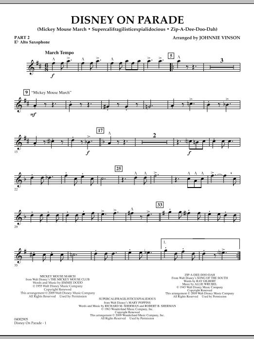 Disney on Parade - Pt.2 - Eb Alto Saxophone (Flex-Band)
