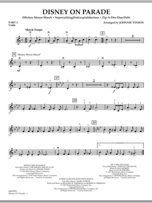 Disney on Parade - Pt.2 - Violin (Flex-Band)