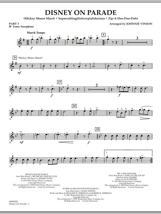 Disney on Parade - Pt.3 - Bb Tenor Saxophone (Flex-Band)