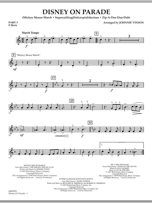 Disney on Parade - Pt.3 - F Horn (Concert Band)