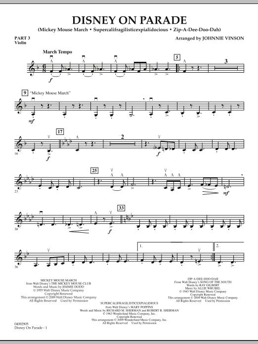 Disney on Parade - Pt.3 - Violin (Concert Band)