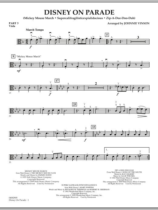 Disney on Parade - Pt.3 - Viola (Concert Band)