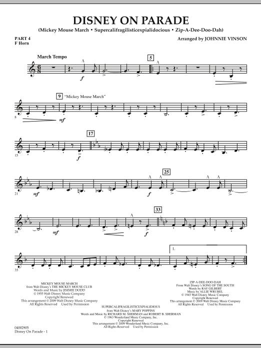 Disney on Parade - Pt.4 - F Horn (Concert Band)