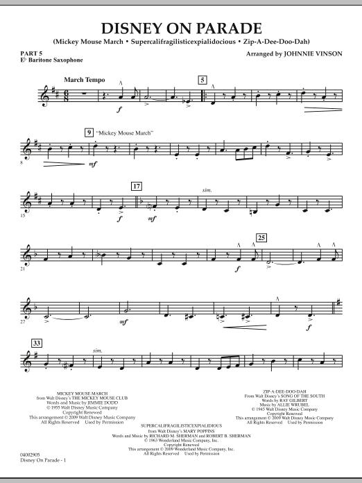 Disney on Parade - Pt.5 - Eb Baritone Saxophone (Concert Band)
