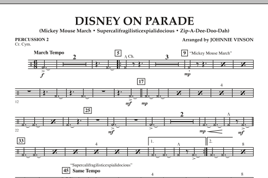 Disney on Parade - Percussion 2 (Concert Band)
