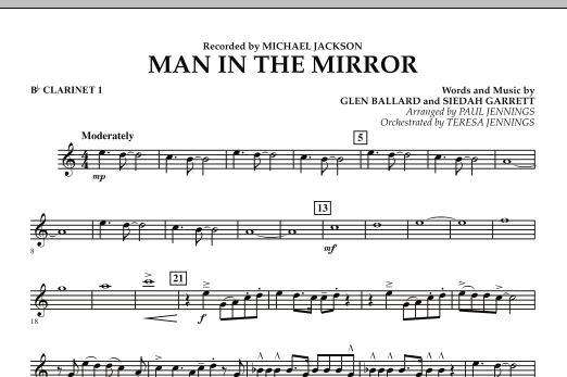 Man In The Mirror - Bb Clarinet 1 (Concert Band)