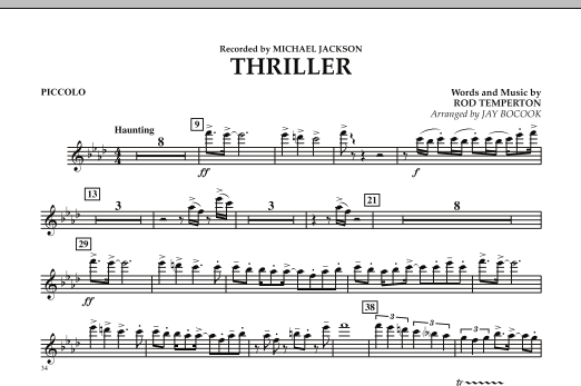 Thriller - Piccolo (Concert Band)