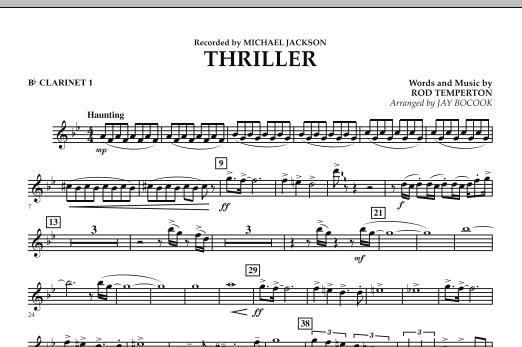 Thriller - Bb Clarinet 1 (Concert Band)