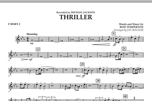 Thriller - F Horn 2 (Concert Band)