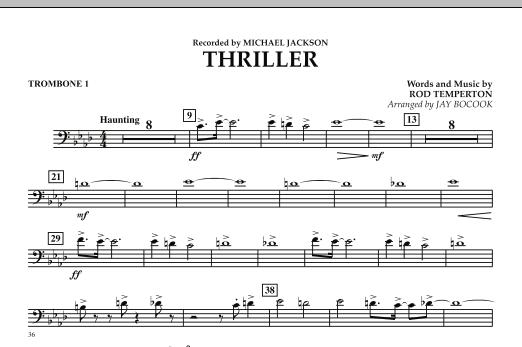 Thriller - Trombone 1 (Concert Band)