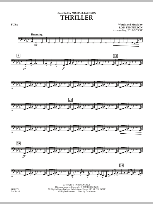 Thriller - Tuba (Concert Band)