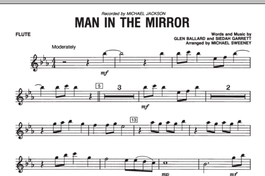 Man In The Mirror - Flute (Concert Band)