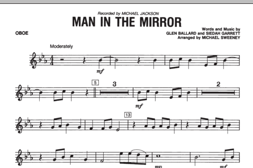 Man In The Mirror - Oboe (Concert Band)