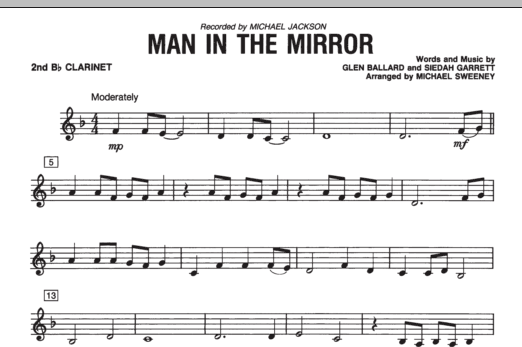 Man In The Mirror - Bb Clarinet 2 (Concert Band)