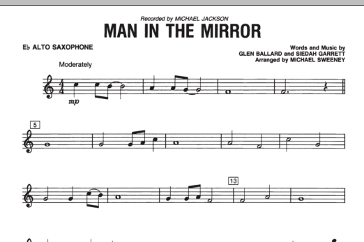 Man In The Mirror - Eb Alto Saxophone (Concert Band)