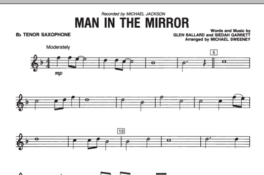 Man In The Mirror - Bb Tenor Saxophone (Concert Band)