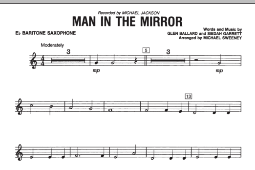Man In The Mirror - Eb Baritone Saxophone (Concert Band)