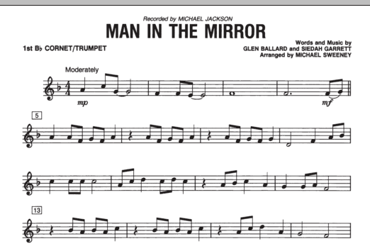 Man In The Mirror - Bb Trumpet 1 (Concert Band)