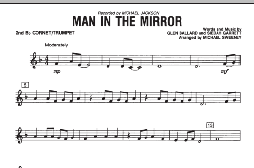 Man In The Mirror - Bb Trumpet 2 (Concert Band)