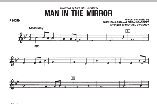 Man In The Mirror - F Horn (Concert Band)