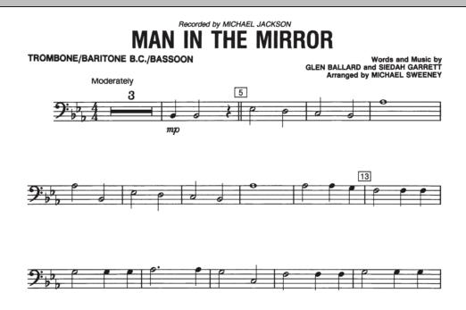 Man In The Mirror - Trombone/Baritone B.C./Bassoon (Concert Band)