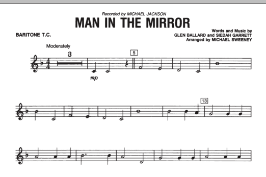 Man In The Mirror - Baritone T.C. (Concert Band)