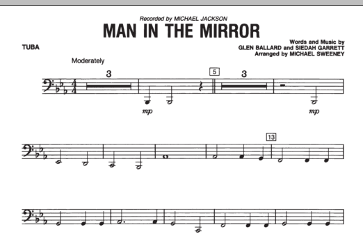 Man In The Mirror - Tuba (Concert Band)
