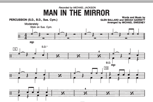Man In The Mirror - Percussion (Concert Band)