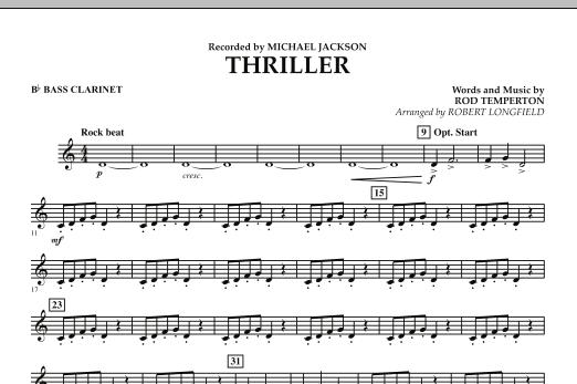 Thriller - Bb Bass Clarinet (Concert Band)
