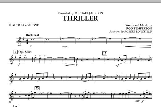 Thriller - Eb Alto Saxophone (Concert Band)