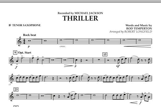 Thriller - Bb Tenor Saxophone (Concert Band)