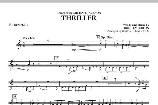 Thriller - Bb Trumpet 1 (Concert Band)