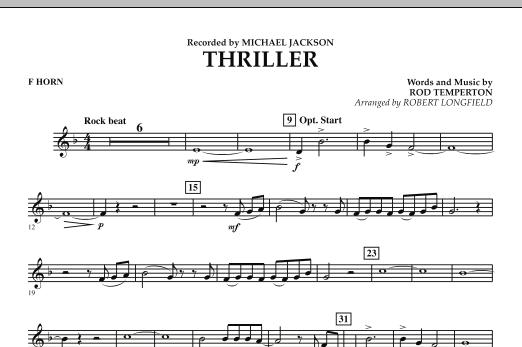 Thriller - F Horn (Concert Band)