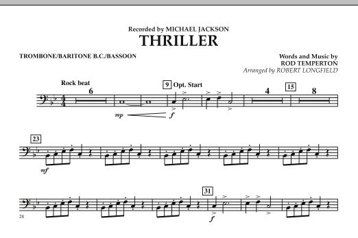 Thriller - Trombone/Baritone B.C./Bassoon (Concert Band)