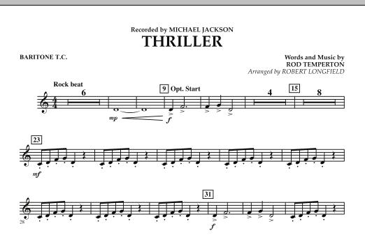 Thriller - Baritone T.C. (Concert Band)
