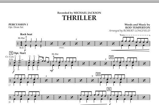 Thriller - Percussion 1 (Concert Band)