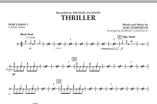 Thriller - Percussion 2 (Concert Band)