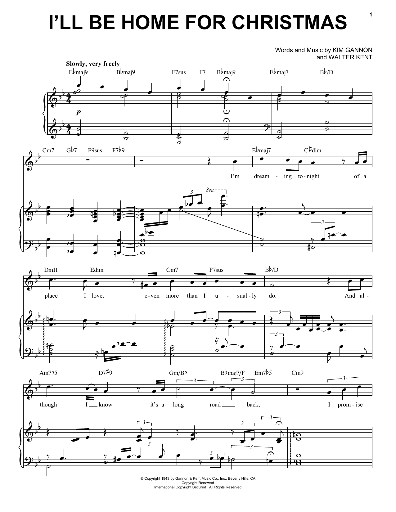 Ill Be Home For Christmas Chords.Sheet Music Digital Files To Print Licensed Walter Kent