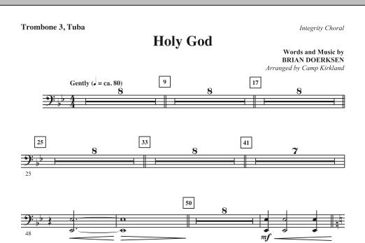 Holy God - Trombone 3/Tuba (Choir Instrumental Pak)