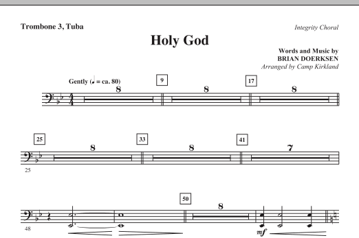 Holy God - Trombone 3/Tuba Sheet Music