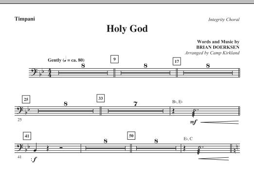 Holy God - Timpani Sheet Music